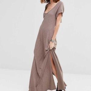 FP Beach Odessa Maxi Dress Taupe size L